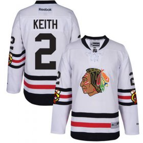 Wholesale Cheap Blackhawks #2 Duncan Keith White 2017 Winter Classic Stitched Youth NHL Jersey
