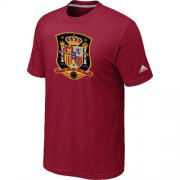 Wholesale Cheap Adidas Spain 2014 World Short Sleeves Soccer T-Shirt Red