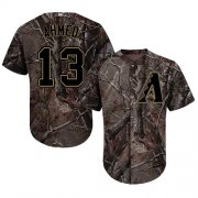 Wholesale Cheap Diamondbacks #13 Nick Ahmed Camo Realtree Collection Cool Base Stitched MLB Jersey