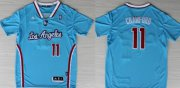 Wholesale Cheap Los Angeles Clippers #11 Jamal Crawford Revolution 30 Swingman 2013 Blue Jersey