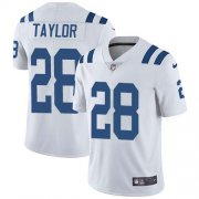 Wholesale Cheap Nike Colts #28 Jonathan Taylor White Men's Stitched NFL Vapor Untouchable Limited Jersey