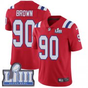 Wholesale Cheap Nike Patriots #90 Malcom Brown Red Alternate Super Bowl LIII Bound Youth Stitched NFL Vapor Untouchable Limited Jersey