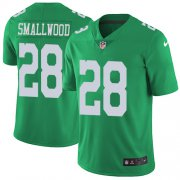 Wholesale Cheap Nike Eagles #28 Wendell Smallwood Green Men's Stitched NFL Limited Rush Jersey