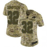 Wholesale Cheap Nike Bills #32 O. J. Simpson Camo Women's Stitched NFL Limited 2018 Salute to Service Jersey