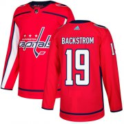 Wholesale Cheap Adidas Capitals #19 Nicklas Backstrom Red Home Authentic Stitched NHL Jersey