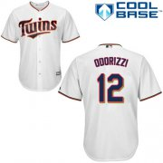 Wholesale Cheap Twins #12 Jake Odorizzi White Cool Base Stitched MLB Jersey