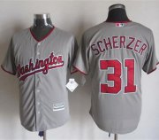 Wholesale Cheap Nationals #31 Max Scherzer Grey New Cool Base Stitched MLB Jersey