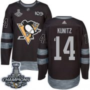 Wholesale Cheap Adidas Penguins #14 Chris Kunitz Black 1917-2017 100th Anniversary Stanley Cup Finals Champions Stitched NHL Jersey