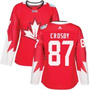Wholesale Cheap Team Canada #87 Sidney Crosby Red 2016 World Cup Women's Stitched NHL Jersey