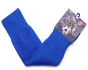 Wholesale Cheap Blank Soccer Football Sock Blue