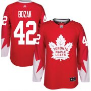 Wholesale Cheap Adidas Maple Leafs #42 Tyler Bozak Red Team Canada Authentic Stitched NHL Jersey