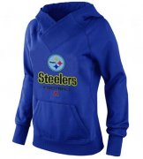 Wholesale Cheap Women's Pittsburgh Steelers Big & Tall Critical Victory Pullover Hoodie Blue