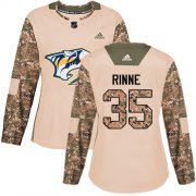 Wholesale Cheap Adidas Predators #35 Pekka Rinne Camo Authentic 2017 Veterans Day Women's Stitched NHL Jersey