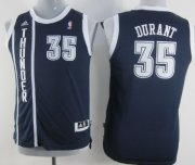 Cheap Oklahoma City Thunder #35 Kevin Durant Navy Blue Kids Jersey