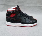 Wholesale Cheap Women's Jordan 1 Mid Shoes Black Red White