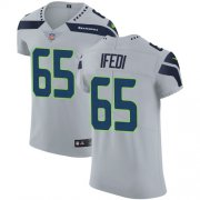 Wholesale Cheap Nike Seahawks #65 Germain Ifedi Grey Alternate Men's Stitched NFL Vapor Untouchable Elite Jersey