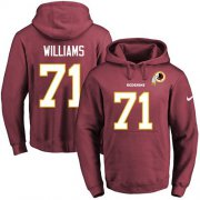 Wholesale Cheap Nike Redskins #71 Trent Williams Burgundy Red Name & Number Pullover NFL Hoodie