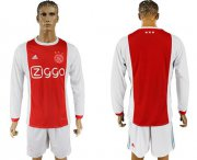 Wholesale Cheap Ajax Blank Home Long Sleeves Soccer Club Jersey