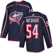Wholesale Cheap Adidas Blue Jackets #54 Adam McQuaid Navy Blue Home Authentic Stitched NHL Jersey