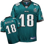 Wholesale Cheap Eagles Jeremy Maclin #18 Green Stitched Team 50TH Anniversary Patch NFL Jersey