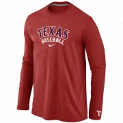 Wholesale Cheap Texas Rangers Long Sleeve MLB T-Shirt Red