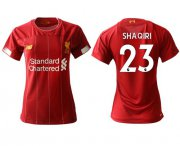 Wholesale Cheap Women's Liverpool #23 Shaqiri Red Home Soccer Club Jersey