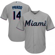 Wholesale Cheap Marlins #14 Martin Prado Grey Cool Base Stitched Youth MLB Jersey