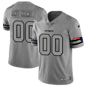 Wholesale Cheap New England Patriots Custom Men\'s Nike Gray Gridiron II Vapor Untouchable Limited NFL Jersey