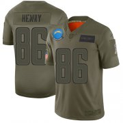 Wholesale Cheap Nike Chargers #86 Hunter Henry Camo Men's Stitched NFL Limited 2019 Salute To Service Jersey
