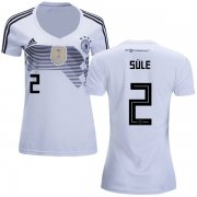 Wholesale Cheap Women's Germany #2 Sule White Home Soccer Country Jersey