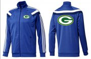 Wholesale Cheap NFL Green Bay Packers Team Logo Jacket Blue_4