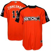Wholesale Cheap Nationals #11 Ryan Zimmerman Orange 2017 All-Star National League Stitched MLB Jersey