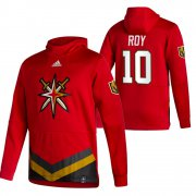 Wholesale Cheap Vegas Golden Knights #10 Nicolas Roy Adidas Reverse Retro Pullover Hoodie Red