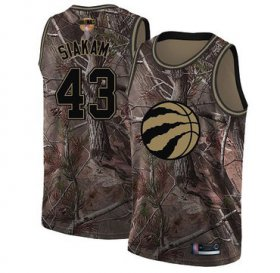 Wholesale Cheap Raptors #43 Pascal Siakam Camo 2019 Finals Bound Basketball Swingman Realtree Collection Jersey