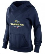 Wholesale Cheap Women's Baltimore Ravens Big & Tall Critical Victory Pullover Hoodie Navy Blue