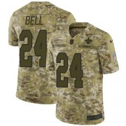 Wholesale Cheap Nike Saints #24 Vonn Bell Camo Youth Stitched NFL Limited 2018 Salute to Service Jersey
