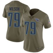 Wholesale Cheap Nike Titans #79 Isaiah Wilson Olive Women's Stitched NFL Limited 2017 Salute To Service Jersey