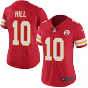Wholesale Cheap Nike Chiefs #10 Tyreek Hill Red Team Color Women's Stitched NFL Vapor Untouchable Limited Jersey
