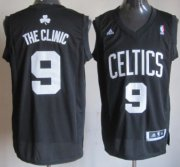 Wholesale Cheap Boston Celtics #9 The Clinic Black Fashion Jersey