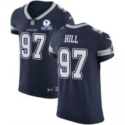 Wholesale Cheap Nike Cowboys #97 Trysten Hill Navy Blue Team Color Men's Stitched With Established In 1960 Patch NFL Vapor Untouchable Elite Jersey