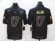 Wholesale Cheap Men's Buffalo Bills #17 Josh Allen Black 2020 Salute To Service Stitched NFL Nike Limited Jersey