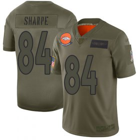 Wholesale Cheap Nike Broncos #84 Shannon Sharpe Camo Youth Stitched NFL Limited 2019 Salute to Service Jersey