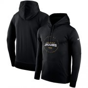 Wholesale Cheap Men's Jacksonville Jaguars Nike Black Sideline Property Of Wordmark Logo Performance Pullover Hoodie