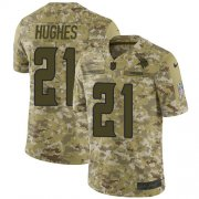 Wholesale Cheap Nike Vikings #21 Mike Hughes Camo Youth Stitched NFL Limited 2018 Salute to Service Jersey