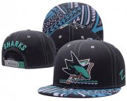 Wholesale Cheap NHL San Jose Sharks Stitched Snapback Hats 001