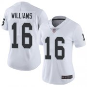 Wholesale Cheap Nike Raiders #16 Tyrell Williams White Women's Stitched NFL Vapor Untouchable Limited Jersey