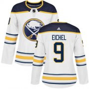 Wholesale Cheap Adidas Sabres #9 Jack Eichel White Road Authentic Women's Stitched NHL Jersey
