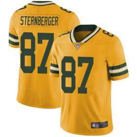 Wholesale Cheap Nike Packers #87 Jace Sternberger Yellow Men\'s Stitched NFL Limited Rush Jersey