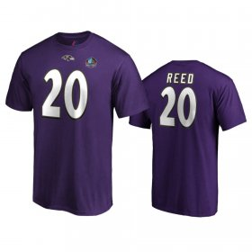 Wholesale Cheap Baltimore Ravens #20 Ed Reed Purple 2019 Hall Of Fame NFL T-Shirt