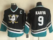 Wholesale Cheap Ducks #9 Paul Kariya Black CCM Throwback Youth Stitched NHL Jersey